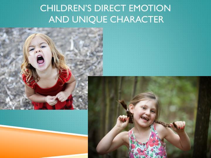 Children's direct emotion