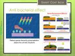 anti bacterial effect