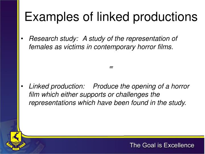 Examples of linked productions