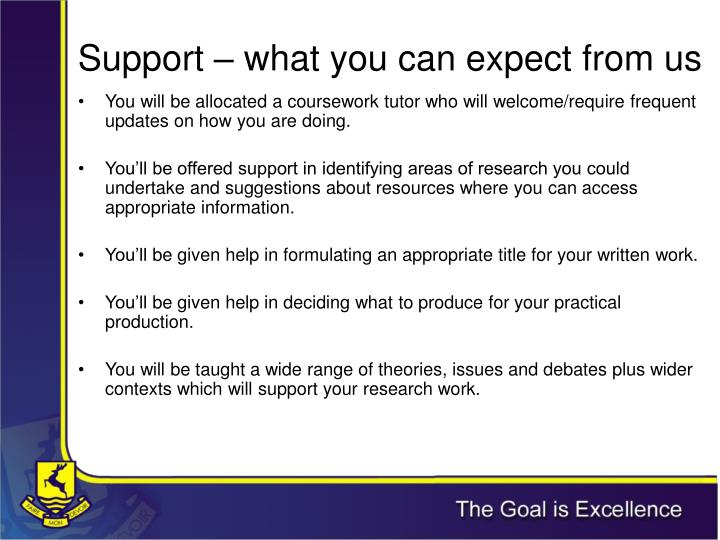 Support – what you can expect from us