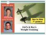 girl s boy s weight training
