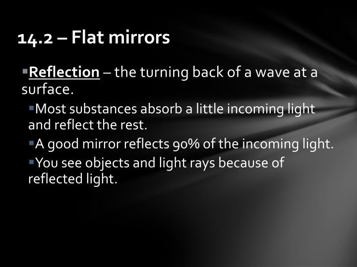 14.2 – Flat mirrors