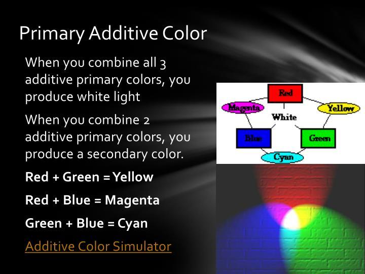 Primary Additive Color