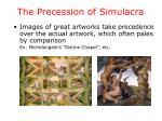 the precession of simulacra1