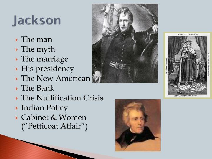 crises during the presidency of andrew jackson Jackson's presidency was marked by four major issues: the second bank of the united states, the tariff of 1828, the nullification crisis, and indian removal jackson signed over ninety treaties with indian tribes and moved them all west of the mississippi–killing thousands in the process.