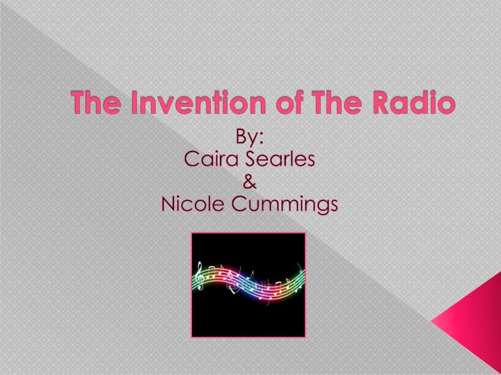 the invention of the radio n.