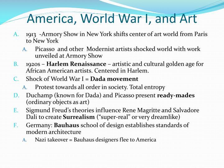 America, World War I, and Art