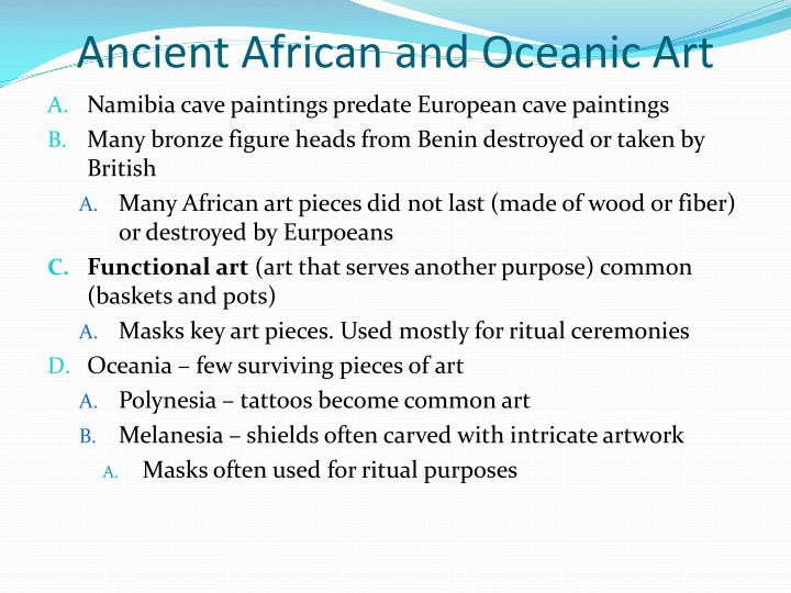 Ancient African and Oceanic Art