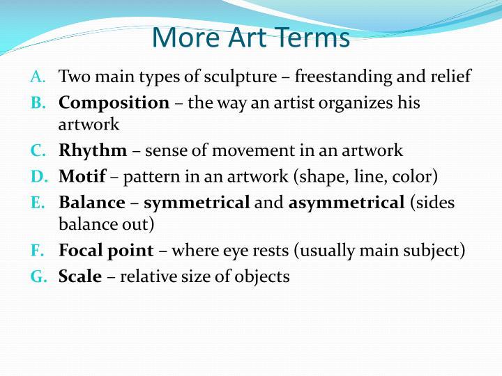 More Art Terms