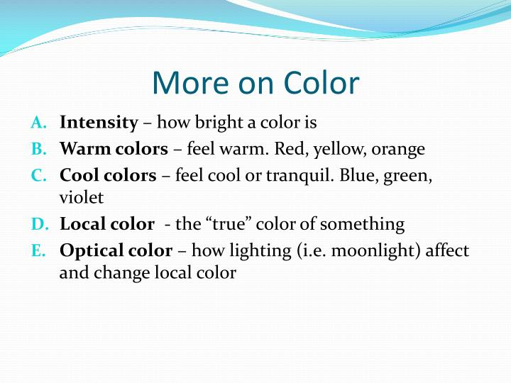 More on Color