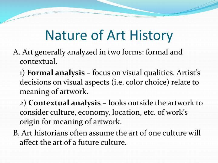 Nature of art history