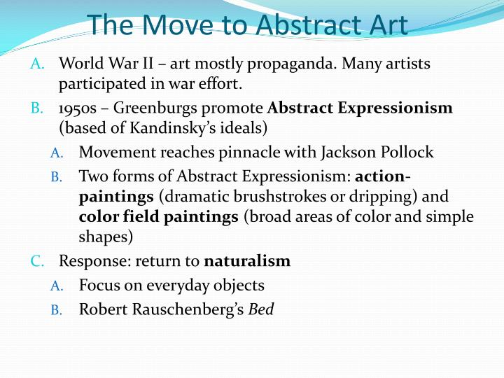 The Move to Abstract Art