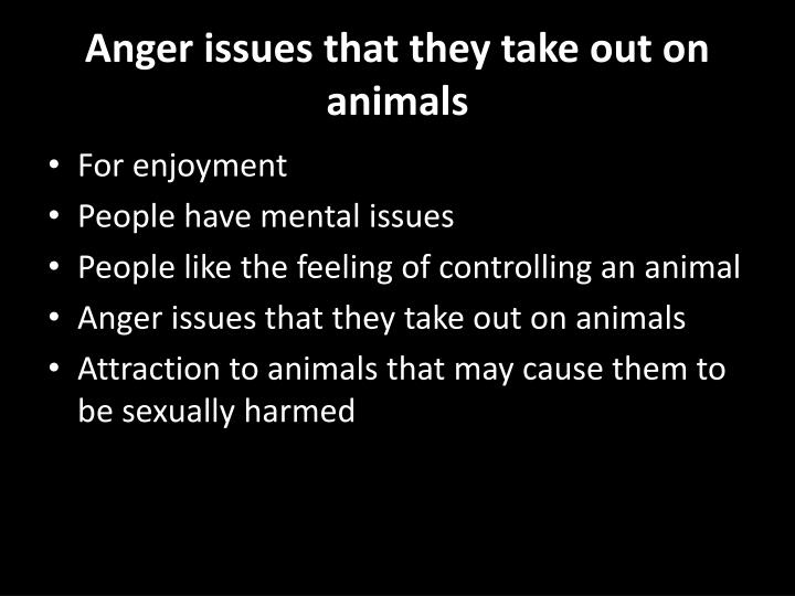 how to take out anger
