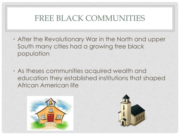 Free black communities