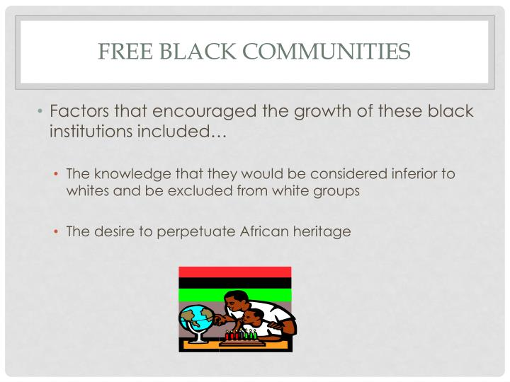 Free black communities1