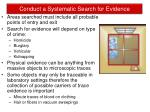conduct a systematic search for evidence1