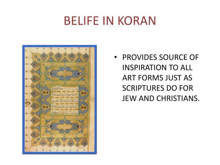 BELIFE IN KORAN