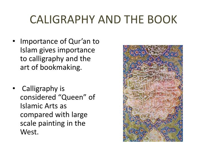 CALIGRAPHY AND THE BOOK