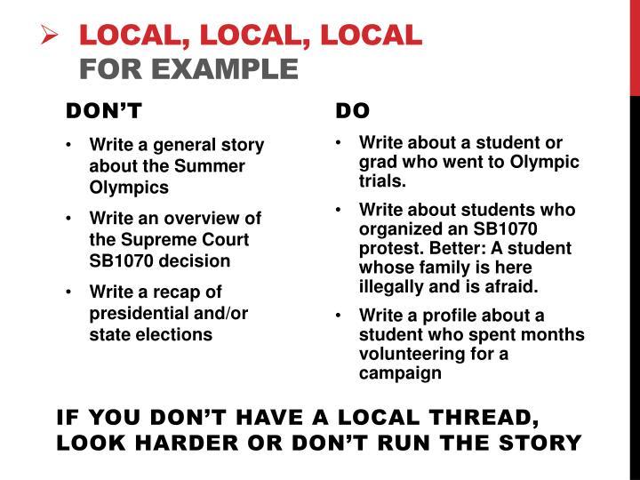 Local, Local,
