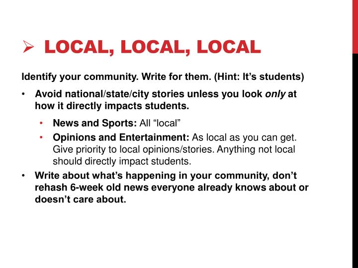 Local local local