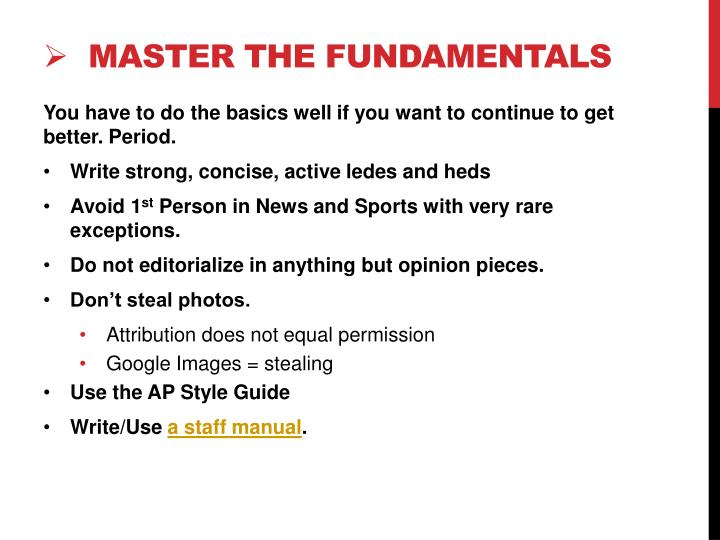 Master the Fundamentals