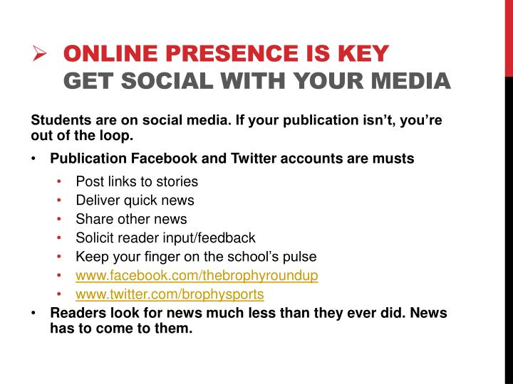 online presence is