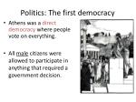 politics the first democracy