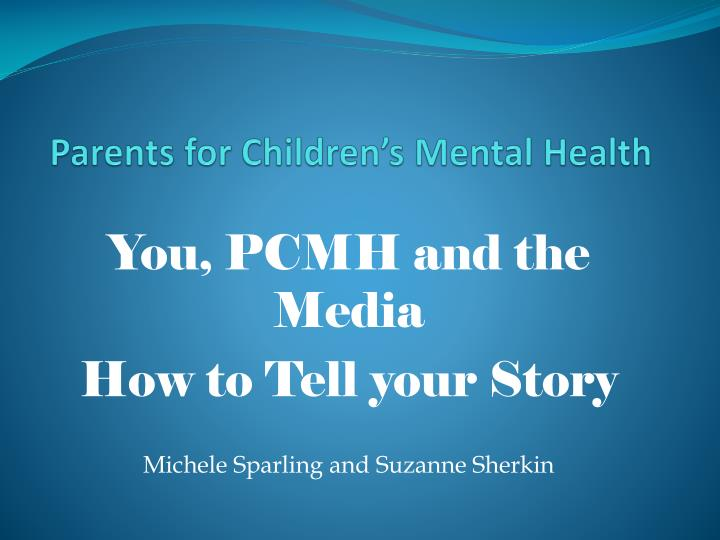 Parents for children s mental health