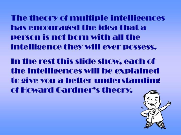 Ppt Howard Gardners Multiple Intelligences Powerpoint