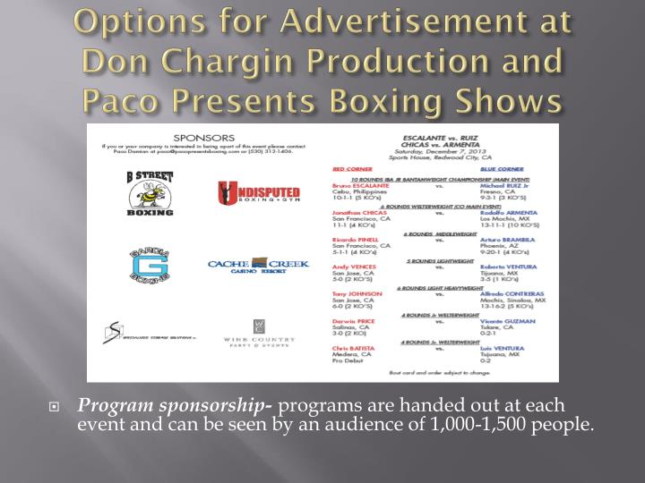 ppt - sponsorship proposal for boxing events powerpoint, Powerpoint templates