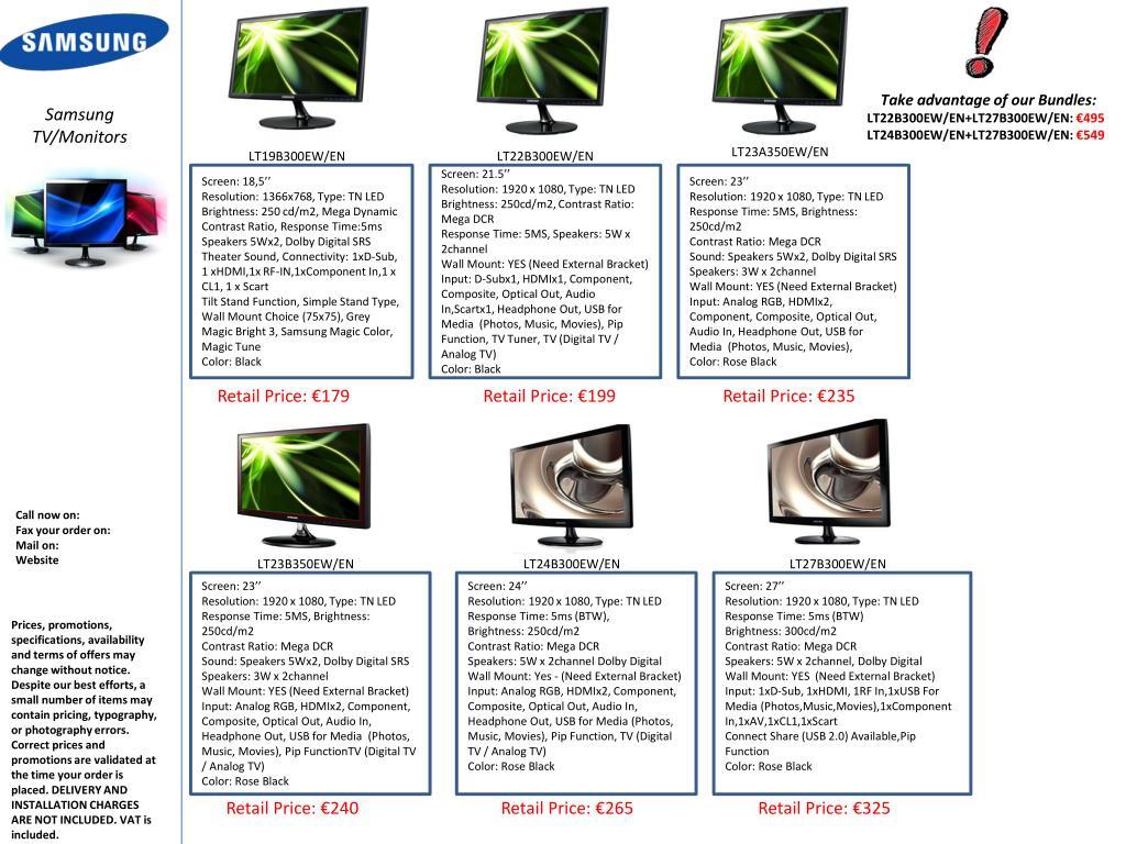 PPT - Take advantage of our Bundles: LT22B300EW/EN+