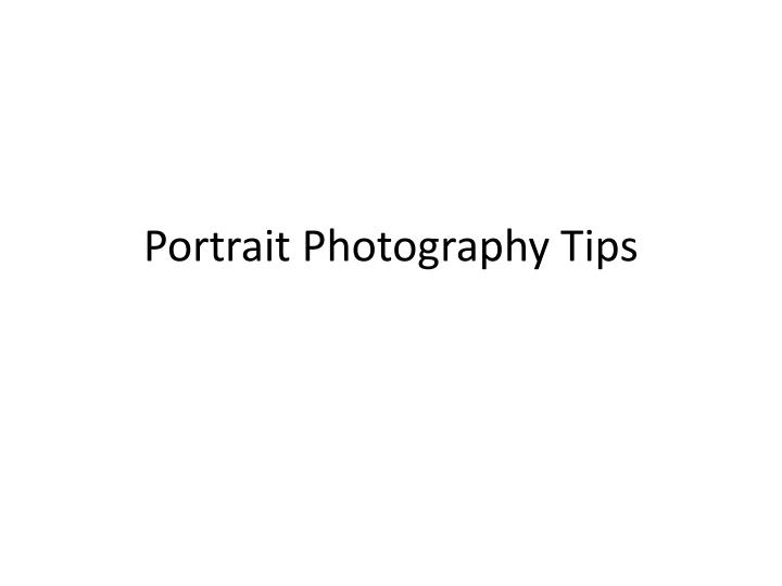 portrait photography tips n.