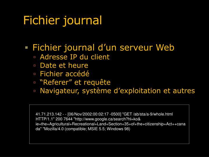 Fichier journal