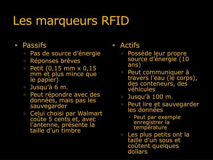 Les marqueurs RFID