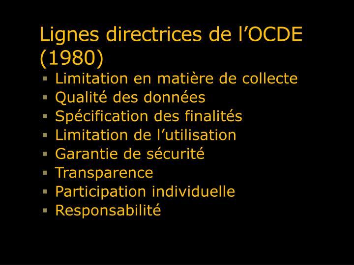 Lignes directrices de l'OCDE (1980)