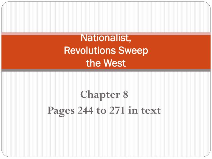 nationalist revolutions sweep the west n.