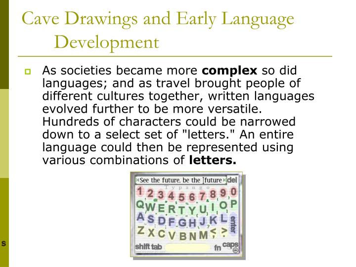 Cave drawings and early language development1