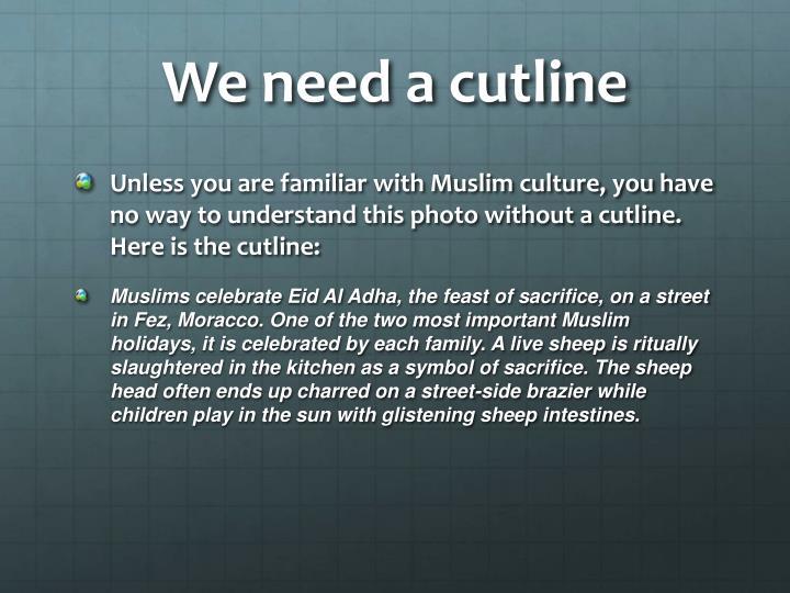 We need a cutline