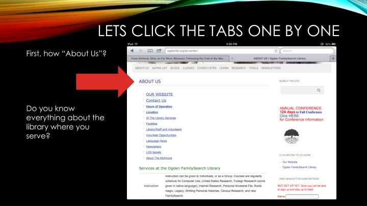Lets click the tabs one by one