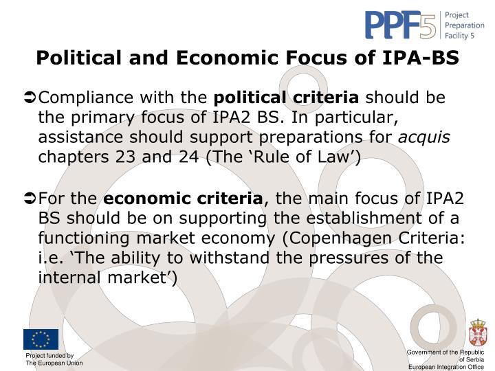 Political and Economic Focus of