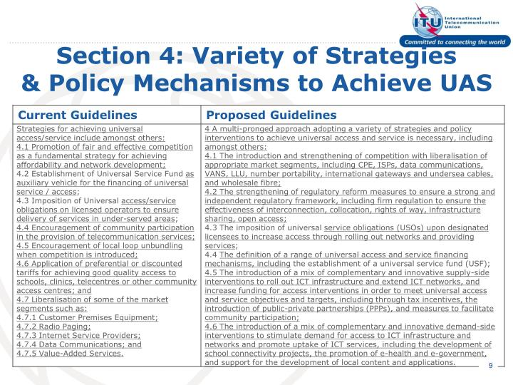 Section 4: Variety of Strategies
