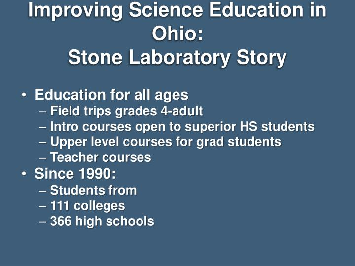 Improving Science Education in Ohio: