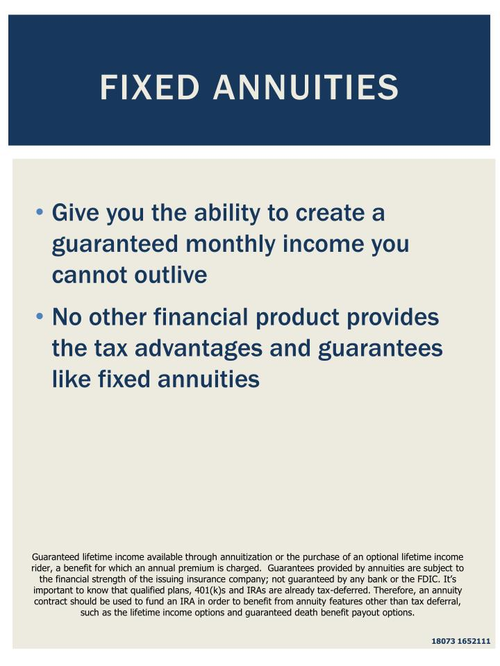 Fixed Annuities