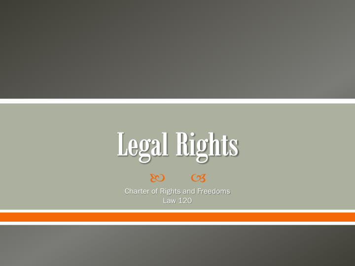 legal rights n.