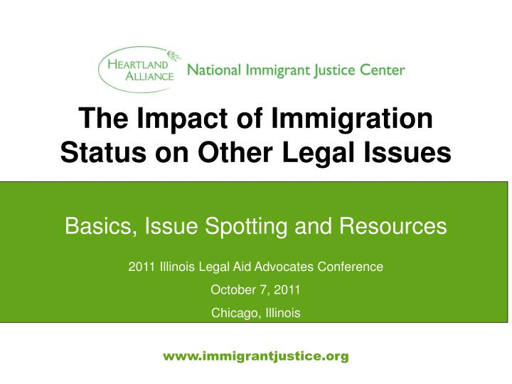 the impact of immigration status on other legal issues n.