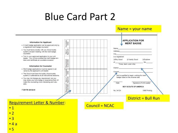 Blue Card Part 2