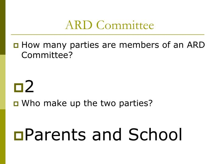 ARD Committee