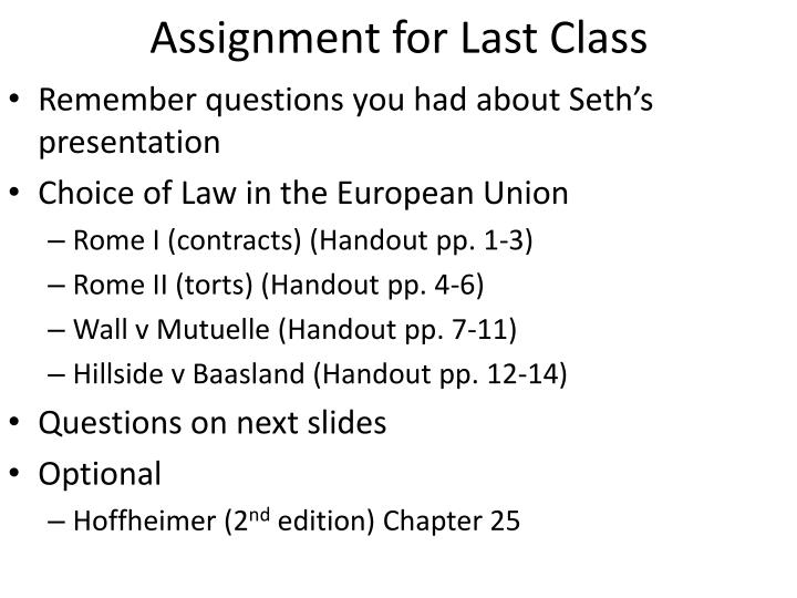 assignment for last class n.