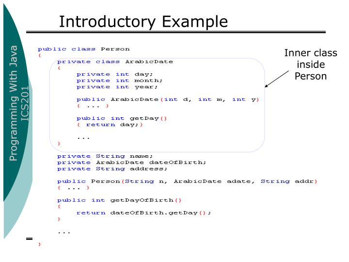 Introductory Example