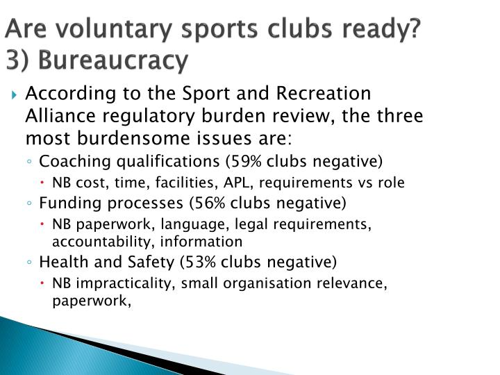 Are voluntary sports clubs ready?